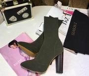 YeezySeason Knitted Ankle Boots green High 10.5cm,Women Shoes,Yeezy Season replicas wholesale