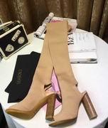 YeezySeason Knitted peep-toe Boots apricot high 10.5cm,Women Shoes,Yeezy Season replicas wholesale