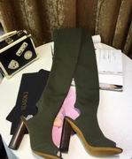 YeezySeason Knitted peep-toe Boots Green High 10.5cm,Women Shoes,Yeezy Season replicas wholesale
