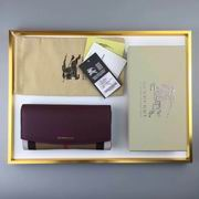 Burberry House Check And Leather Continental Wallet bordeaux ,Wallet, replicas wholesale