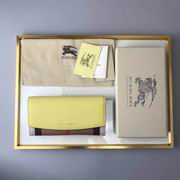 Burberry House Check And Leather Continental Wallet yellow ,Wallet, replicas wholesale