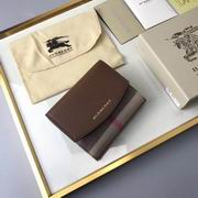 Burberry House Check and Leather Wallet brown ,Wallet, replicas wholesale