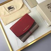 Burberry House Check and Leather Wallet red ,Wallet, replicas wholesale