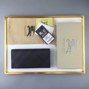 Burberry London Check and Leather Continental Wallet black&chocolate ,Wallet, replicas wholesale