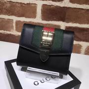 Gucci Sylvie leather wallet black