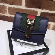 Gucci Sylvie leather wallet blue