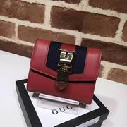 Gucci Sylvie leather wallet red