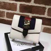 Gucci Sylvie leather wallet white
