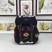 Gucci Backpack with embroidery black techno canvas