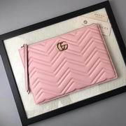 Gucci GG Marmont matelass?¦ leather pouch pink ,Wallet, replicas wholesale