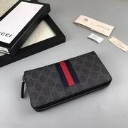 Gucci GG Supreme Web zip around wallet ,Wallet,Gucci replicas wholesale