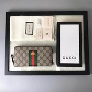 Gucci Web GG Supreme zip around wallet ,Wallet,Gucci replicas wholesale