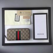 Gucci Web GG Supreme zip around wallet ,Wallet, replicas wholesale