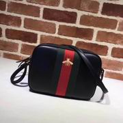 Gucci leather with bee shoulder bag black,Handbags, replicas wholesale