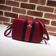 Gucci leather with bee shoulder bag red,Handbags, replicas wholesale