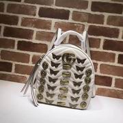 Gucci GG Marmont animal studs leather backpack white,Handbags, replicas wholesale