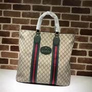 Gucci GG Supreme tote green
