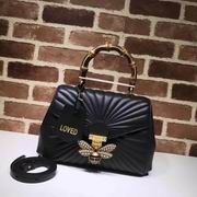 Gucci Queen Margaret medium top handle bag black ,Handbags, replicas wholesale