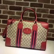 Gucci Soft GG Supreme duffle bag with Web red,Handbags,Gucci replicas wholesale