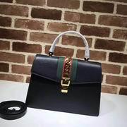 Gucci Sylvie medium top handle bag black