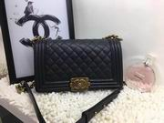 CHANEL LEBOY 25CM BALL MARKS COWHIDE HANDBAG GOLD METAL BLACK ,Handbags,Chanel replicas wholesale
