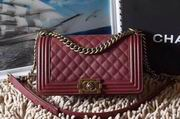 CHANEL LEBOY 25CM BALL MARKS COWHIDE HANDBAG GOLD METAL BURGUNDY,Handbags,Chanel replicas wholesale