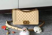 CHANEL LEBOY 25CM BALL MARKS COWHIDE HANDBAG GOLD METAL APRICOT ,Handbags,Chanel replicas wholesale