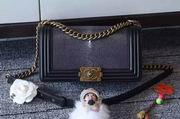 Chanel Leboy25cm purple devil fish skin black gold metal,Handbags,Chanel replicas wholesale