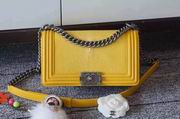 Chanel Leboy25cm yellow devil fish skin yellow silver metal,Handbags,Chanel replicas wholesale