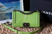 Chanel Leboy25cm green devil fish skin green silver metal ,Handbags,Chanel replicas wholesale