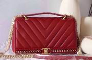 CHANEL 2017 WINTER NEW STYLE SHEEP SKIN RED No.91845 SIZE 25CM,Handbags,Chanel replicas wholesale