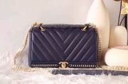 CHANEL 2017 WINTER NEW STYLE SHEEP SKIN BLUE No.91845 SIZE 25CM,Handbags,Chanel replicas wholesale
