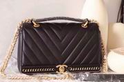 CHANEL 2017 WINTER NEW STYLE SHEEP SKIN BLACK No.91845 SIZE 25CM ,Handbags,Chanel replicas wholesale