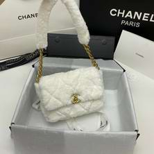 White Rabbit hair Flap Bag