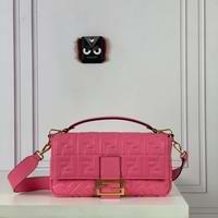 BAGUETTE Pink leather bag Large