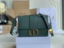 30 MONTAIGNE BAG Mint Green Box Calfskin