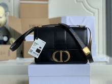 30 MONTAIGNE BAG Black Box Calfskin