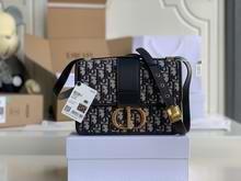 30 MONTAIGNE BAG Blue Dior Oblique Jacquard