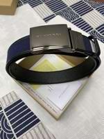 Reversible Plaque Buckle Vintage Check E-canvas Belt